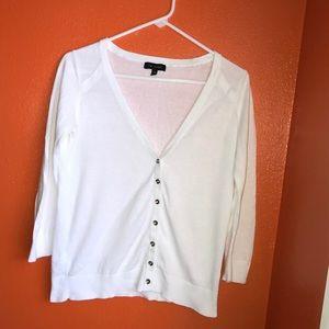 All white cardigan